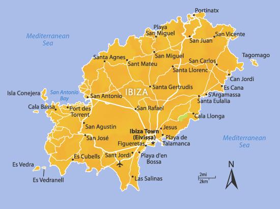 Ibiza mapa